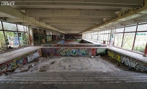 I walked through an empty pool house in Germany