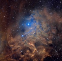 I want that blue - the Flaming Star Nebula