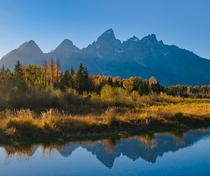 I wanted to return to the Tetons in fall for years The first nights golden sunset exceeded all my expectations