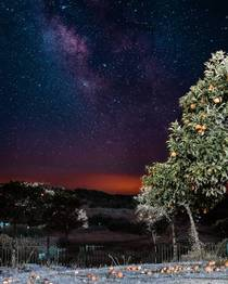 I was able to snap this milky way shot while working as a set photographer for a movie this weekend This is Huelva Spain