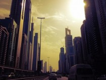 I was getting a taxi through Dubai a few weeks ago took out my phone and snapped this