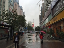 I was in Shenzhen for a study abroad trip and took this picture  years ago today Shenzhen was one of the strangest cities Ive ever been to because its a MASSIVE city filled with people who seem to have never seen a white person before