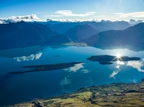 I was lucky enough to be in a helicopter yesterday over Queenstown in New Zealand when there was no wind at all