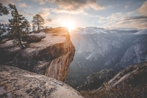 I was lucky enough to have Taft Point all to my self for a few hours Yosemite National Park Yosemite California