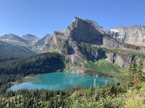 I was lucky enough to spend my summer right outside Glacier NP This is Lower Grinnell Lake on Grinnell Glacier trail