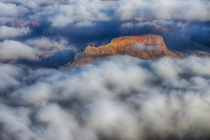 I was lucky to see a perfect cloud inversion the first time I visited the Grand Canyon National Park