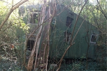 I was making a trail in my backyard when I found a super cool abandoned camper  Chattanooga TN