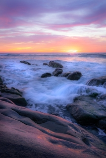 I was mesmerized by the colors and how they kept changing as the minutes went by A beautiful evening in La Jolla California  - Help make a change with your beautiful work Come support and inspire peoples wellbeing with your peaceful Photography at rMindfu