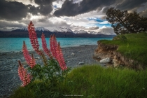I was so lucky to watch the clouds and beautiful sunset roll by at Lake Pukaki New Zealand