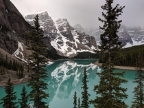 I was told that posting this place is a great way to get karma Moraine Lake Alberta