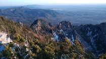 I was told this would be a good place for this photo third times the charm Sandia Mountain Range New Mexico