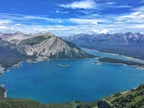 I was told to post something other than my last post of Moraine Lake so heres Upper and Lower Kananaskis Lakes as seen from atop Sarrail Ridge
