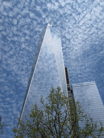 I was told you might like this picture of  WTC in clouds