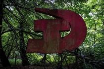 I went into Chernobyl Exclusion Zone  times and documented every memorial and monument Ive found This Hammer and Sickle Sign is in the abandoned village of Stechanka Ukraine Exclusion Zone located just outside of the former village club