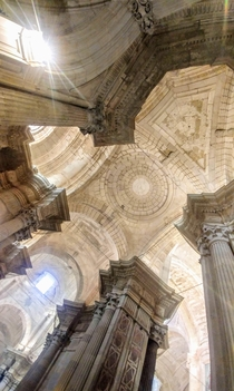 I went into one of the oldest cathedrals in the south of Spain it was incredible