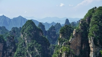 I went last weekend to Zhangjiajie China where the movie Avatar was filmed