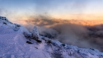I went on a  hour hike through the snow and ice in the dark so I could watch sunrise from the nd highest peak in NY State and it totally paid off