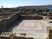 I went to Delos once There were quite significant portions of some of the buildings but this is one of the mosaics It was almost overwhelming to think of people going about their lives thousands of years ago