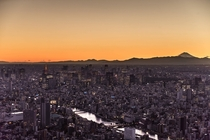 I went up the Tokyo Skytree at sunset
