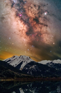 I will never get tired of photographing our Galaxy The Milky over Red Mountain in Colorado