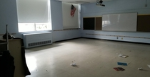 I work for a school and this is what all the classrooms look like after  months of no students Sorry if the pics sideways my gallery says its normal but reddit keeps rotating it
