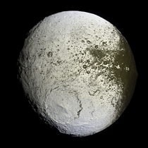 Iapetus as seen by the Cassini probe