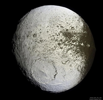 Iapetus is the third-largest natural satellite of Saturn eleventh-largest in the Solar System and the largest body in the Solar System known not to be in hydrostatic equilibrium