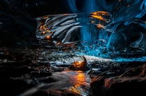 Ice cave in Vatnajokull Southeast Iceland  Photo by Einar Runar Sigurdsson
