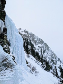 Ice climbing on Mt Lincoln CO