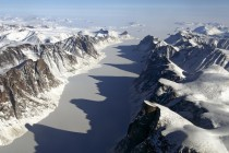 Ice-covered fjord on Baffin Island