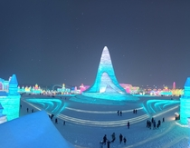 Ice Festival in Harbin China  The size of these things is unreal