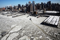 Ice floes are viewed along the Hudson River in Manhattan on a frigidly cold day New York Feb   Spencer Platt