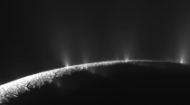 Ice jets erupting from Saturns moon Enceladus