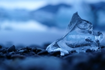 Ice on the shore of Jkulsrln Glacier Lagoon Iceland