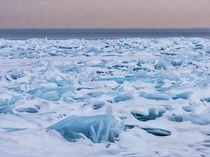 Ice on the shore of Lake Huron