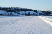 Ice road on Great Slave Lake Northwest Territories Canada xp rwinterporn