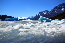 Icebergs in Torres del Paine National Park Chile