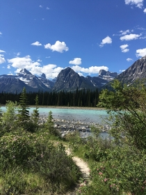 Icefields Parkway Alberta--Right off the highway