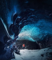 Iceland glacial cave  photo by Daniel Korzhonov