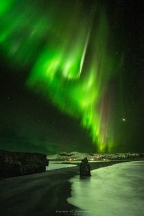 Iceland Stars and the Aurora Borealis photographed by Carlos F Turienzo