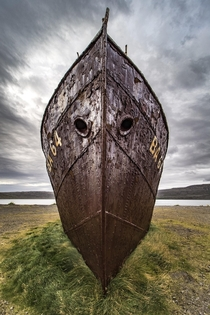 Icelands Oldest Steel Ship Intentionally Beached In