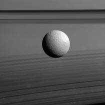 Ices and Shadows Saturns moon Tethys