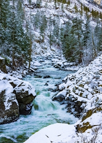 Icicle Creek near the Leavenworth Washington taken this past Thanksgiving