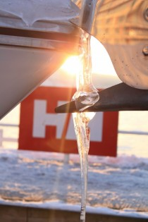 Icicle on a boat in the sunshine Taken in Oslo earlier this year