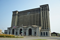 Iconic Michigan Central Station in Detroit