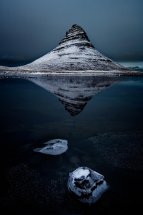 Icy Reflections Kirkjufell Iceland