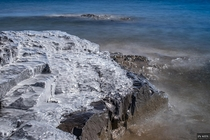 Icy shoreline of Lake Superior in northern Minnesota   x