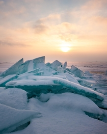 Icy Shores of Lake Superior