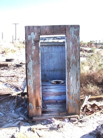 If this Outhouse could tell tales Im sure it would have plenty of them Salton sea CA