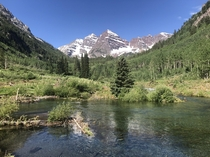 If you want more Colorado - the washed scenic loop trail early July above Maroon Lake - Maroon Bells   x